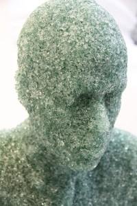 Escultura en vidrio, Daniel Arsham.