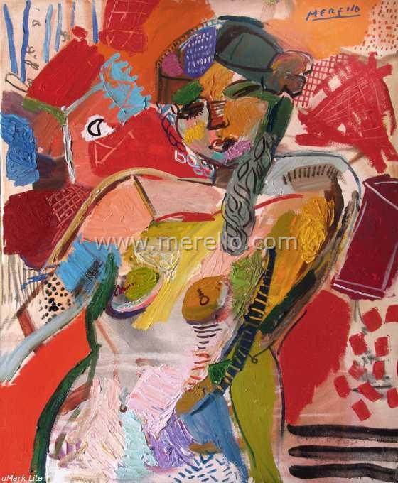 5.art_moderne_contemporaine_peinture_espagnole-merello.-desnudo  _en _rojos _(100x81 _cm)mixta-lienzo_560x680