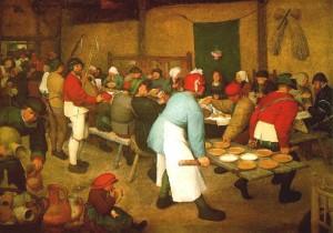 El banquete nupcial Brueghel el Viejo (1567)