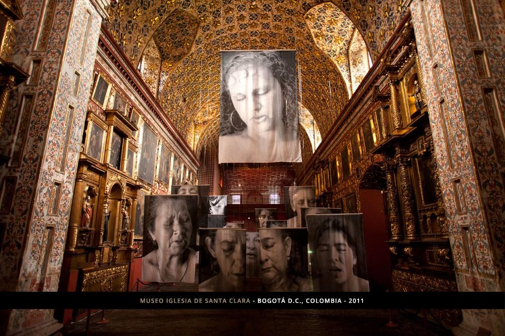 imagen 7 Erika Diettes sudarios - Museo iglesia Santa Clara - bogota 2011