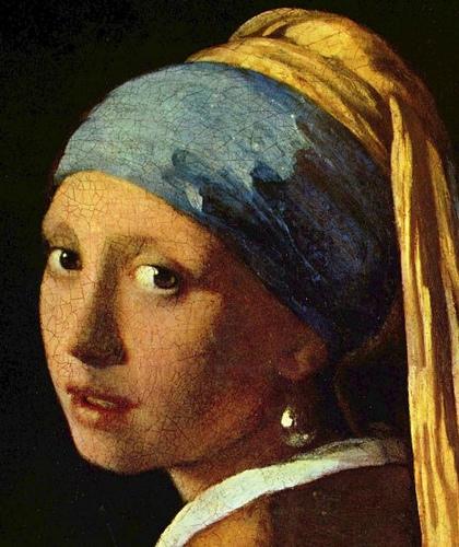 portada. la joven de la perla. J. Vermeer