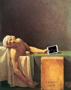 Marat con tablet 2