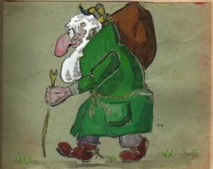 Linge verde con mono