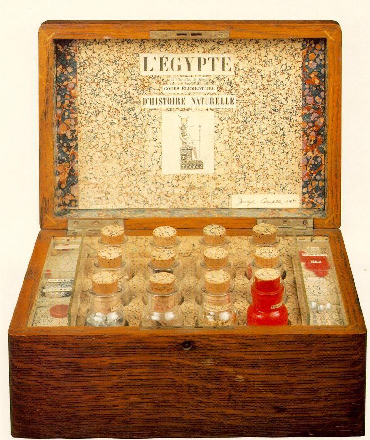 Joseph Cornell. L'Egypte de Mlle Cleo de Merode- cours +®l+®mentaire d'histoire naturelle 1940