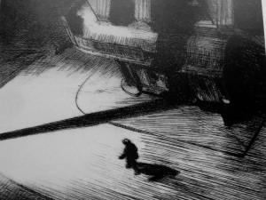"""""""Sombras nocturnas"""" (1921)  Edward Hopper"""