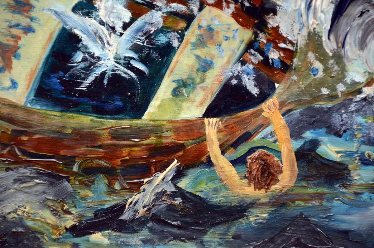 pintura náufraga