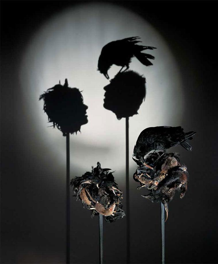 Tim Noble y Sue Webster - Fotografias de Esculturas realizdas basura doméstica chatarra y animales disecados
