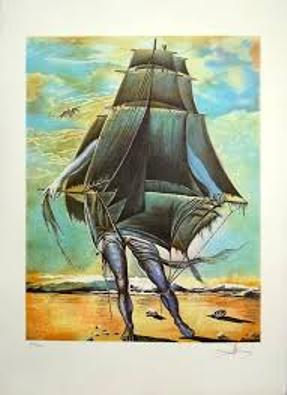 Viaje fantasma o El hombre barco-Salvador Dalí