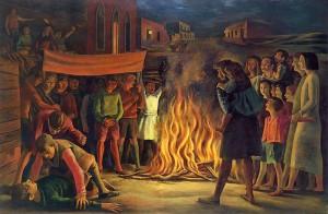 Antonio Berni - La fogata de San Juan - 1948