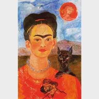 Autorretrato con el retrato de Diego en el pecho y María entre las cejas 1954