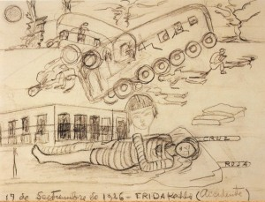 Dibujo del accidente de Frida Kahlo (1926)