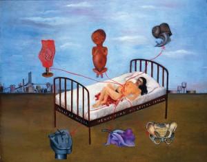 La cama volando, Hospital Henry Ford, Frida Kahlo  (1932.)