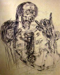 Autorretrato, Artaud 1972.