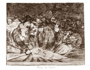 Murió la verdad Goya sepia