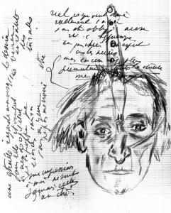 Dibujo, Antonin Artaud.