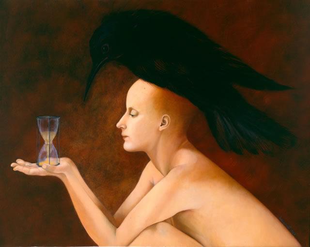 """Norma Bessouet, """"El otro abrazo"""", óleo sobre lienzo, 1987."""