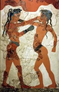 iMÁGEN I  -  PÚGILES DE AKROTIRI (1500 a C ) ISTA SANTORINI