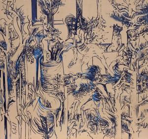 Sentido ausente, 2011, óleo sobre tela,