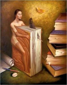 Mujer libro, Salvador Dalí.