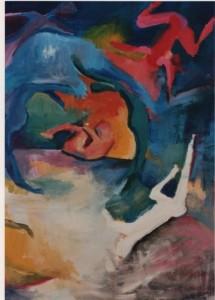 Fantasmas. Acrílico sobre tela. Pintura: Julieta Strasberg