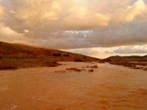 Rio turbulento