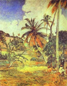 Palmeras en Martinica, Gaugin