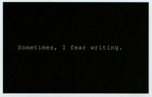 """Grada kilomba. """"Sometimes I fear wrtiting"""". Impresión de pantalla del video """"Mientras escribo"""""""