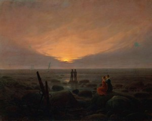 Caspar david Friedrich, un maneceer en el mar.