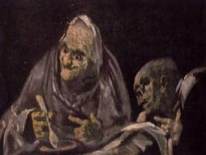 Dos viejos comiendo, Goya.