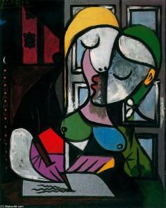 Escritura de la mujer - Pablo Picasso
