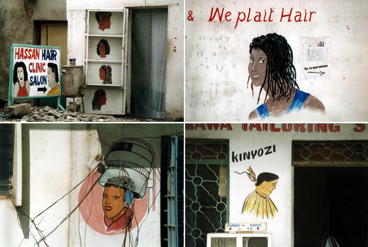 Peluquerías africanas. Kenia y Zambia.