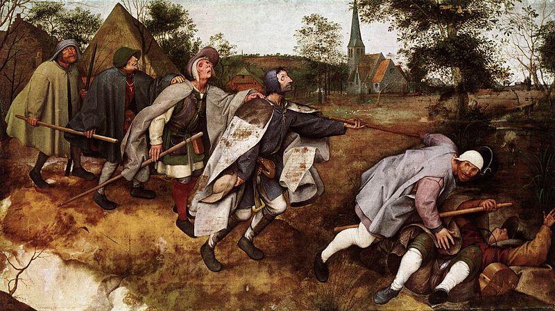 brueghel la parabola de los ciegos 1568