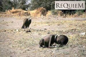 Foto de Kevin Carter ganadora del Premio Pulitzer 1994.