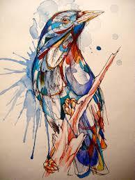 Abby Diamond, Pájaros con sangre de acuarela.