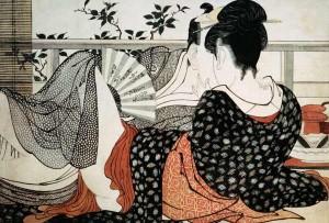 Utamaro - Los amantes