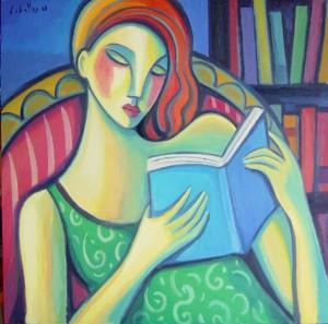 Guillermo Marti Ceballos - Woman reading