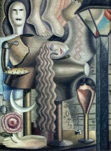 """Maruja Mallo.""""Escaparate"""". Óleo sobre lienzo, 1928."""