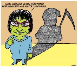 Caricatura a Mercedes Cabanillas, por Cossio.