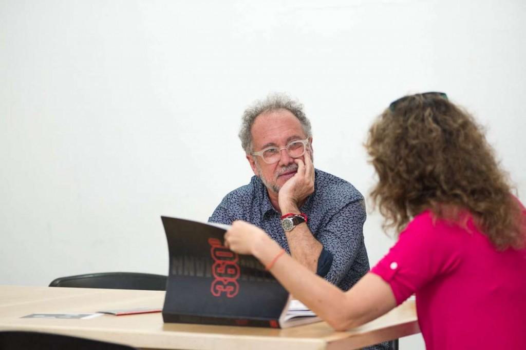 Zimmerman con el Anartista. Foto: Diego Grispo.