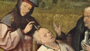 Extracción de la piedra de la locura (detalle) - Jerome Bosch, el Bosco