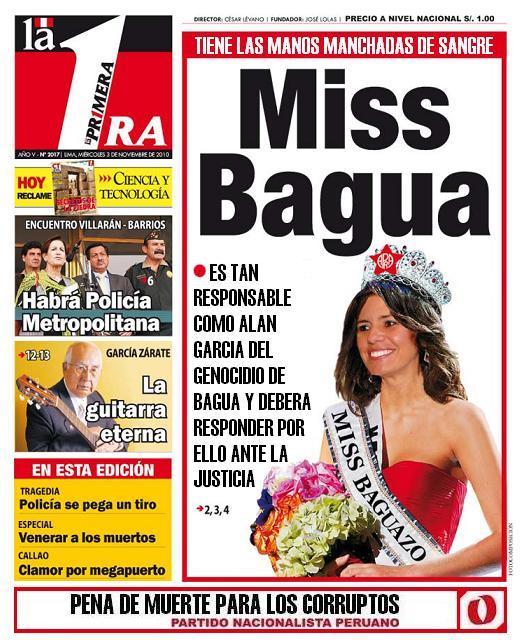 """Portada de diario """"La primera"""" 4 de noviemnbre 2010."""