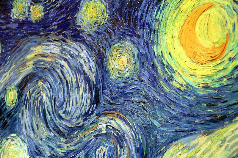 Detalle Noche estrellada Van Gogh