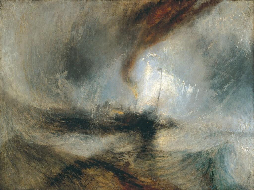 J.M.W. Turner. En la boca de una tormenta de nieve en el puerto.