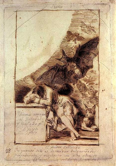 """""""El sueño de la razón"""" de Goya"""
