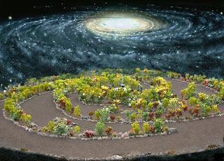 vía lactea como jardin