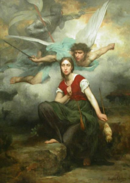 Pintura de Juana de Arco (Eugene_Thirion)