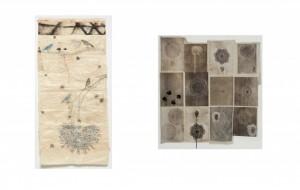 02) Kiki Smith. Sin Título (Doily drawing), 1994. Litografia, monotipo y collage.