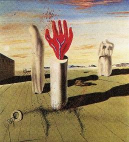 simulacro de la noche-Salvador Dalí