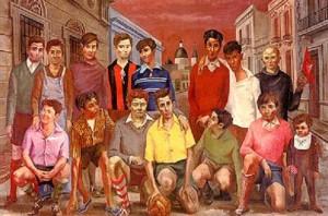 Antonio Berni - Team de fútbol o Campeones de barrio - 1954