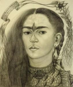 Autoretrato dedicado a  Marte R. Gómez, Frida Kahlo (1946)